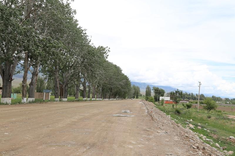 ремонт дороги на Иссык-Куль